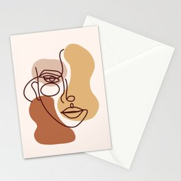 Abstract shapes boho face  Stationery Cards