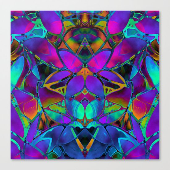 Floral Fractal Art G308 Canvas Print