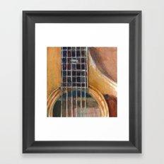 Taylor Acoustic Guitar Framed Art Print