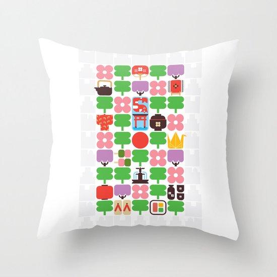 Japan Day Throw Pillow