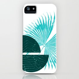 Equal Green - Minimalism Mid-Century Modern Forms iPhone Case