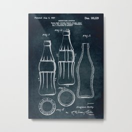 1937 Design for a bottle Eugene Kelly Metal Print