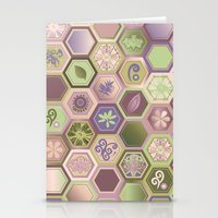 polygon Stationery Cards featuring Polygon pattern by /CAM