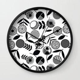 Geometric Florals Wall Clock