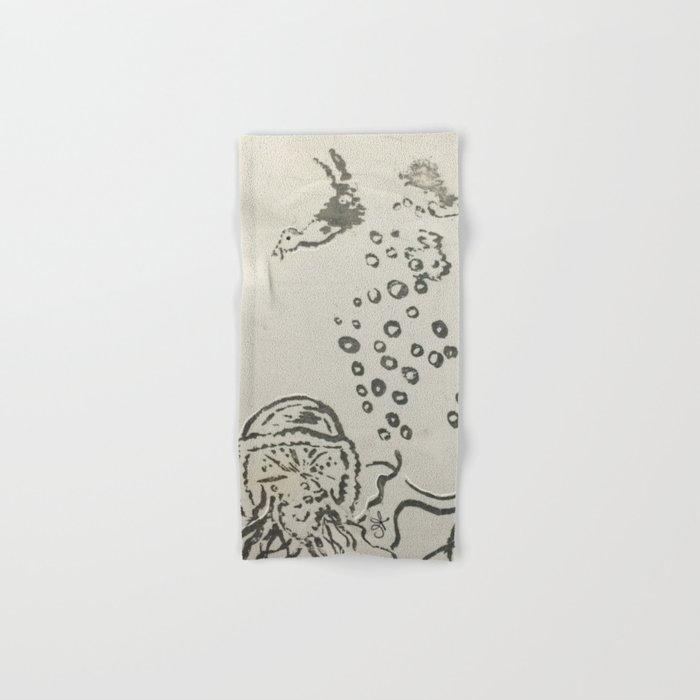 Under The Sea Sketch Hand & Bath Towel