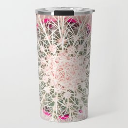 Cactus mandala - blush concrete Travel Mug