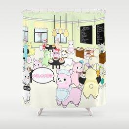 Alpaca Dreams Café  Shower Curtain