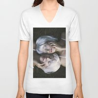 twins V-neck T-shirts featuring Twins by Jovana Rikalo