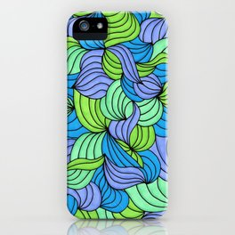 Green Waves iPhone Case