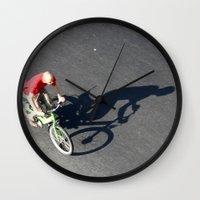 cycling Wall Clocks featuring Cycling by Avigur
