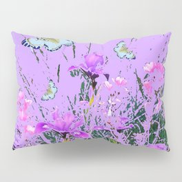 LILAC PURPLE MODERN FLOWERS ABSTRACT Pillow Sham