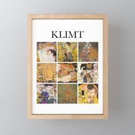 Klimt - Collage Framed Mini Art Print