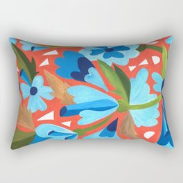 Floral Folk  Rectangular Pillow