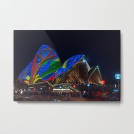 Vivid Sydney at Opera House Metal Print