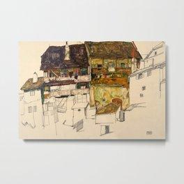 Egon Schiele - Old Houses in Krumau Metal Print