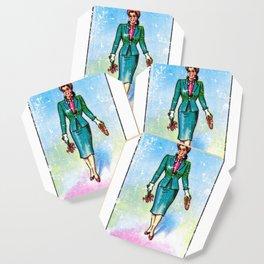 La Dama Mexican Loteria Bingo Card Coaster