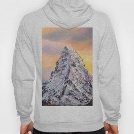 Matterhorn. Sunset. Swiss Alps Hoody
