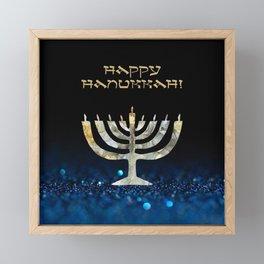 Happy Hanukkah Framed Mini Art Print
