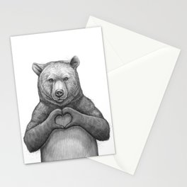 Bear with love Stationery Cards