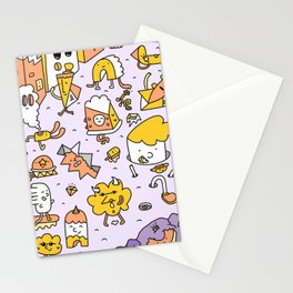 Creepy Street Pattern Stationery Cards