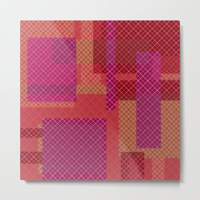 Pink red pacifrc , patchwork Metal Print