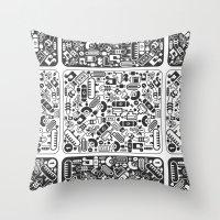 grid Throw Pillows featuring Grid by Cloz000