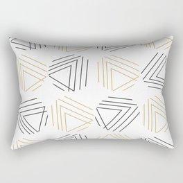 Abstract Gold Black Pattern Rectangular Pillow