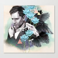 tom hiddleston Canvas Prints featuring Tom Hiddleston by Yan Ramirez