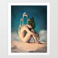 dreamer Art Prints featuring Dreamer by Christian Schloe