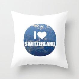 I Love Switzerland Throw Pillow