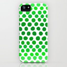 Apple Green and White Dots Ombre iPhone Case