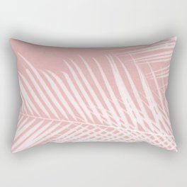 Palm Leaves on Pink II Rectangular Pillow
