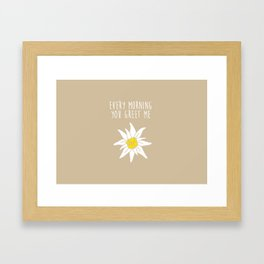 darker biege Framed Art Print