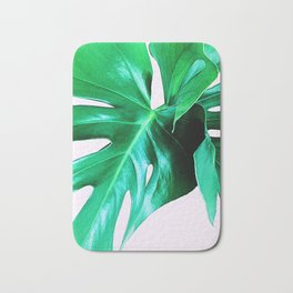 Cheese Plant Leaves Bath Mat