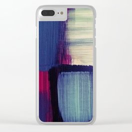 minimal painting, simple colours, block colours Clear iPhone Case