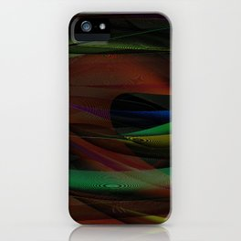 Lines and Illusion iPhone Case
