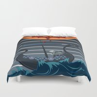 viking Duvet Covers featuring The Viking by milanova