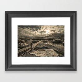 Cold Boats Framed Art Print