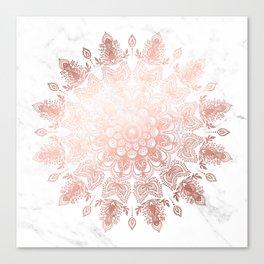 Dancing Mandala Rose Gold Canvas Print