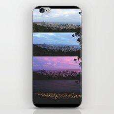 New York Skyline Portrait Time Frames iPhone & iPod Skin