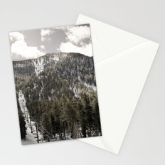 B&W Snowy Mt. Charleston Stationery Cards