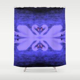 Swans in Love (in a purple haze) Shower Curtain