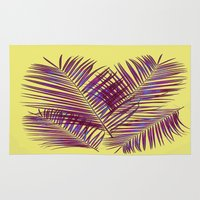 palms Area & Throw Rugs featuring Palms by  Agostino Lo Coco