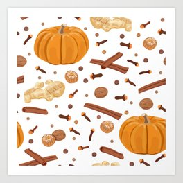 Thanksgiving Pumpkin Spice Art Print