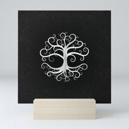 Tree of life Black and White Mini Art Print