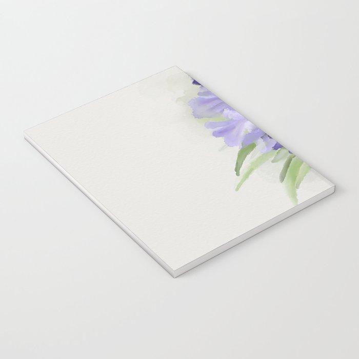 Blue purple flowers Notebook