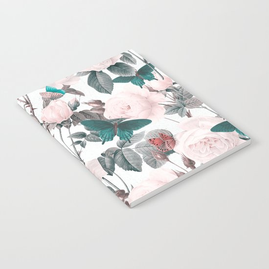 ROSES AND BUTTERFLIES Notebook