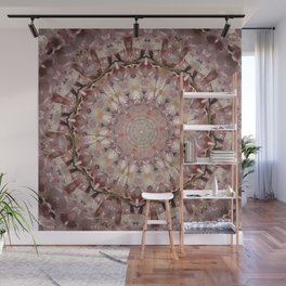 Almond Blossom Mandala Wall Mural