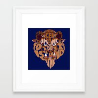 beauty and the beast Framed Art Prints featuring beast by Rebecca McGoran