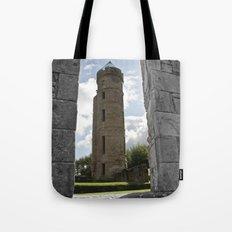 Tower Through The Rain  Tote Bag